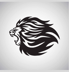 Lion roaring logo mascot design template vector