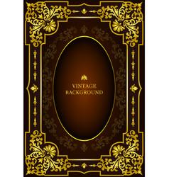 Luxury book cover vector