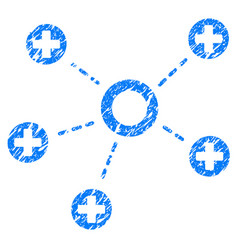 Medical connections grunge icon vector