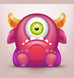 monster vector image