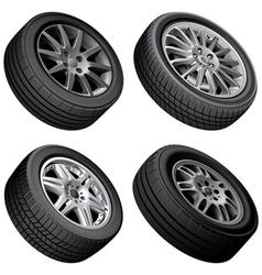 Passenger automobiles wheels bundle vector