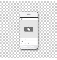phone with social network photo frame vector image