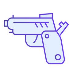 Pistol flat icon gun blue icons in trendy flat vector