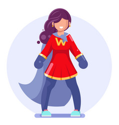 Powerful superhero beautiful action girl modern vector