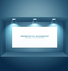 Presentation background with light effects vector