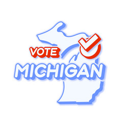 Presidential vote in michigan usa 2020 state map vector