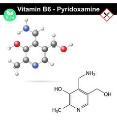 Pyridoxamine chemical formula vector