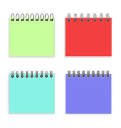 realistic detailed 3d notepad and iron wired vector image