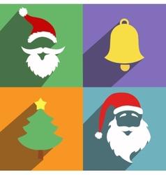 santa claus and year flat design vector image