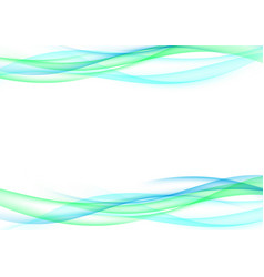 satin green and blue wave speed lines vector image