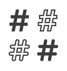 set of hastags symbols vector image