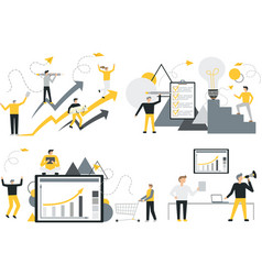 set office concept business people vector image