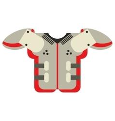 shoulder pad american football equipment vector image