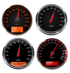 speedometers and tachometers car dashboard black vector image