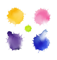 splash pastel set watercolor stains vector image