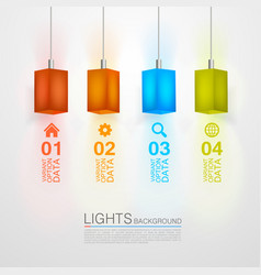 Square paper lamps vector