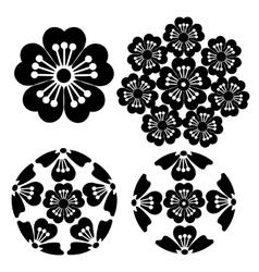 Stylized sakura flower japanese symbolism vector