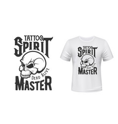 tattoo master skull t-shirt print mockup studio vector image