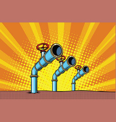 Three oil pipes vector