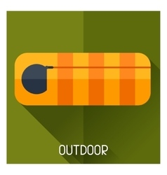 Tourist creative of sleeping bag in vector