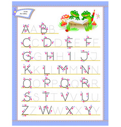 Tracing abc letters for study english alphabet vector