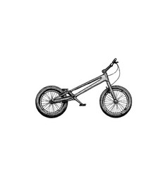 Trial bike mod vector