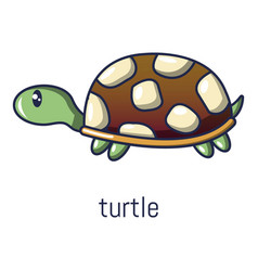 Turtle icon cartoon style vector