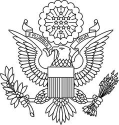 Us passport seal vector