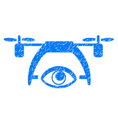 Video spy drone grunge icon vector