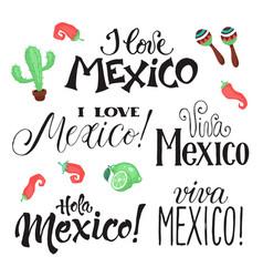 Viva mexico wording vector