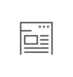 website line outline modern icon vector image