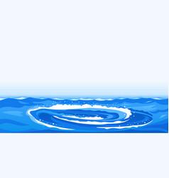 whirlpool natural phenomenon vector image