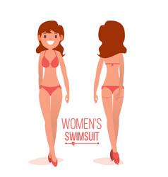 women s swimsuit women beach clothes vector image
