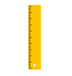 Yellow ruler icon flat isolated rule icon for vector