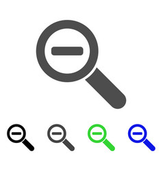 zoom out flat icon vector image