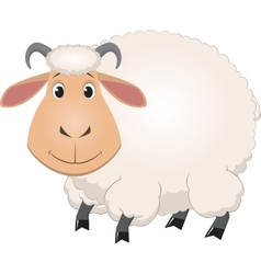Cartoon baby sheep vector image vector image