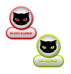 Cats permission icons vector image