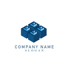 cubes logotype vector image vector image