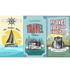 Expeditions Vertical Banner Set vector image vector image