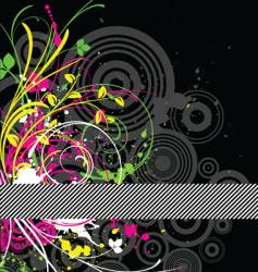 fluorescent grunge vector image vector image