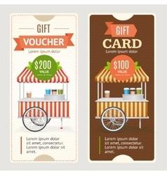 Gift Voucher Set vector image