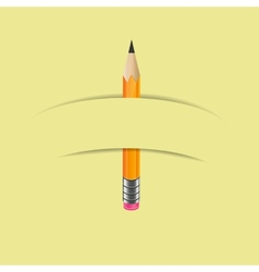 Graphite pencil with paper banner vector image