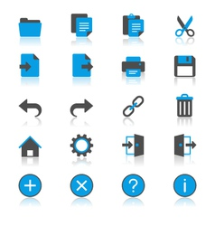 Application toolbar flat with reflection icons vector image vector image