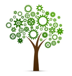 Industrial innovation concept tree vector