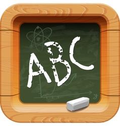 School blackboard icon vector