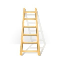 Wooden step ladders stand vector image vector image