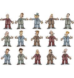businessmen set vector image