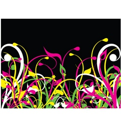 fluorescent nature vector image vector image