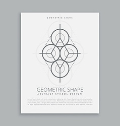mystic sacred geometry shape vector image vector image