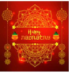 of happy navratri celebration poster vector image